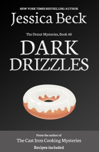 donut mystery 40 cover - black background with bright donut