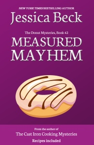 brightly colored plum book cover, with a donut with striped icing