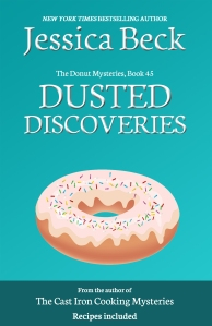 brightly colored teal book cover, with a donut with colorful icing