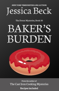 black book cover, with a donut with bright red icing