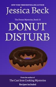 Purple background with dark donut